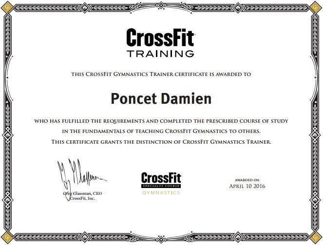 Damien Poncet CrossFit Gymnastics Trainer