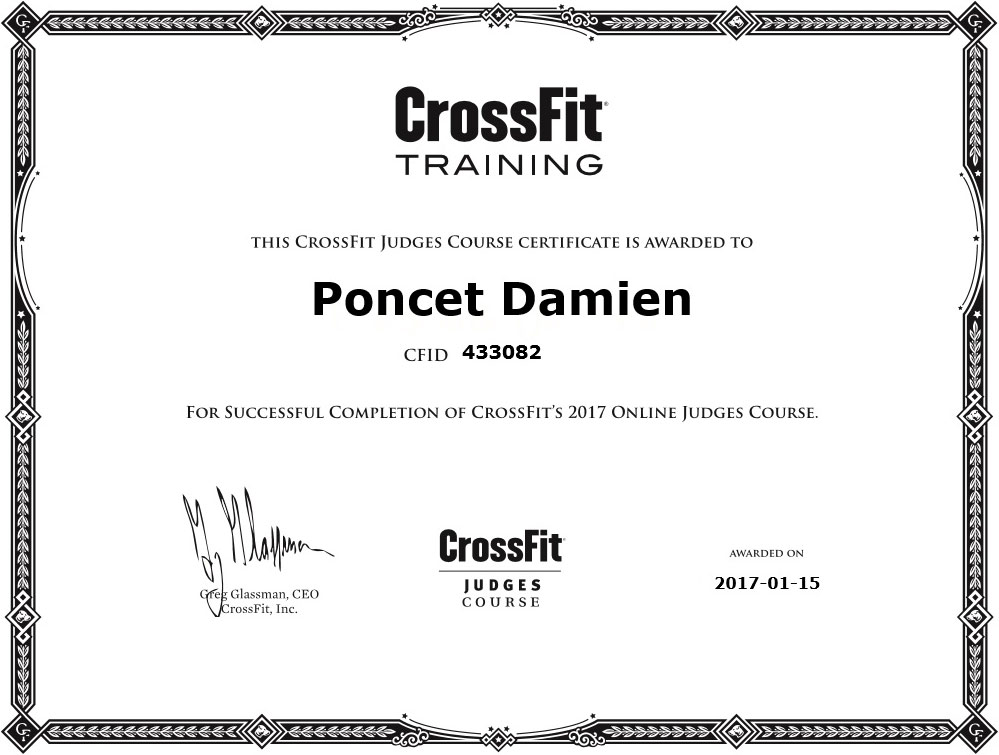 Damien Poncet CrossFit Judges Course