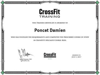 Damien Poncet CrossFit KIDS