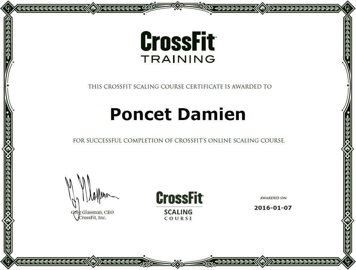 Damien Poncet CrossFit Scaling Course