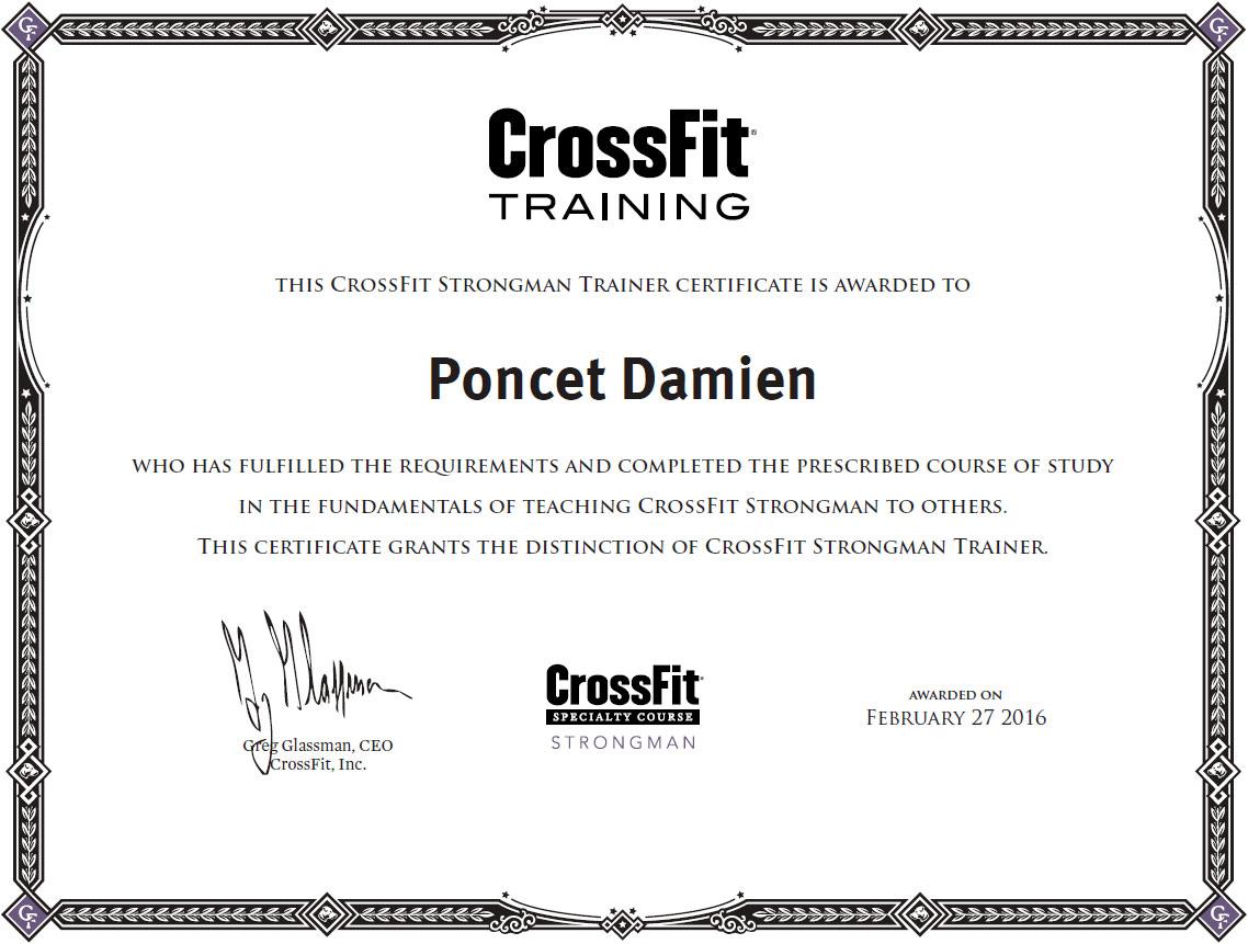 Damien Poncet CrossFit Strongman Trainer