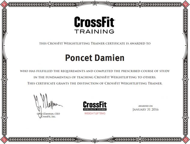 Damien Poncet CrossFit Weightlifting Trainer